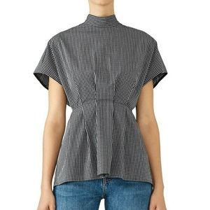 Fame & Partners Sebastian Top 4 Checkered Pleated